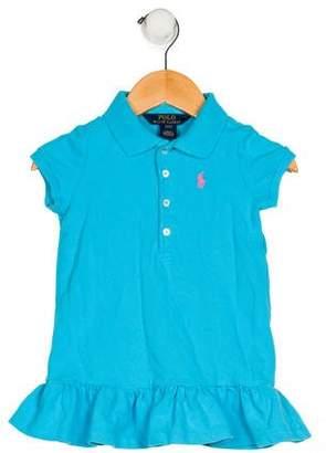 Ralph Lauren Girls' Collar Short Sleeve Dress