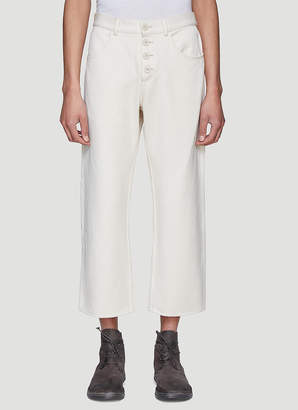 Xenia Telunts Twill Jeans in White