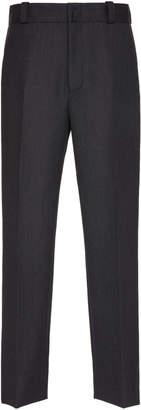 Lanvin Side Striped Wool-Flannel Trousers