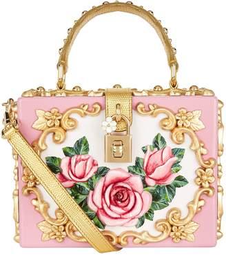 Dolce & Gabbana Rose Embellished Top Handle Bag