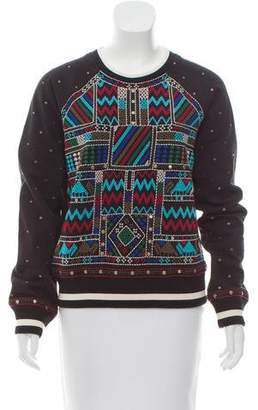 Christophe Sauvat Bomber Embroidered Sweatshirt