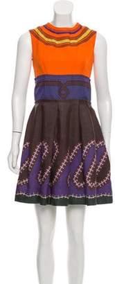Prada Sleeveless Pleated Dress