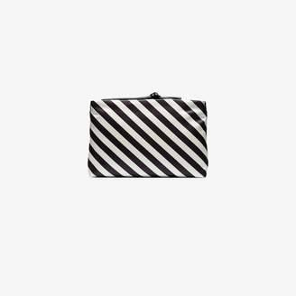 9deda5dc8b Dries Van Noten black and white striped leather clutch