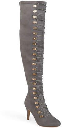 Journee Collection Womens Trill-Wc Dress Boots Stiletto Heel Zip