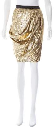 Derek Lam Metallic Knee-Length Skirt