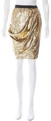 Derek Lam Metallic Knee-Length Skirt