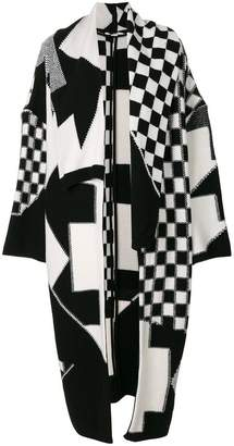 Stella McCartney Check Volume knitted coat
