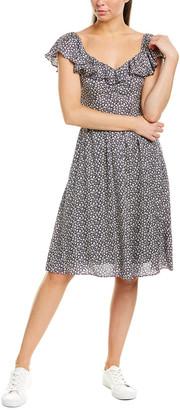 Rebecca Taylor Lauren Silk-Blend A-Line Dress