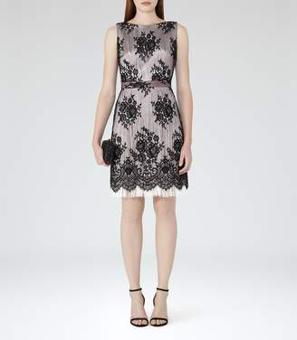 Reiss Eleonora Lace And Fringe Dress