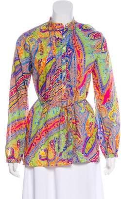 Lauren Ralph Lauren Paisley Print Long Sleeve Top