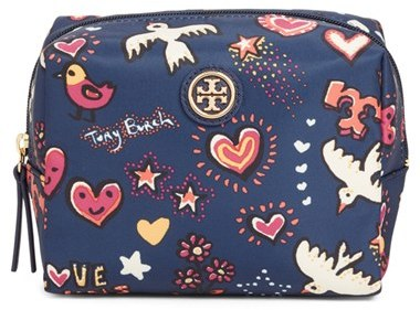 Tory Burch Tory Burch Brigitte Print Cosmetics Case