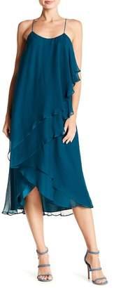 Haute Hippie Two Layer Ruffle Silk Dress
