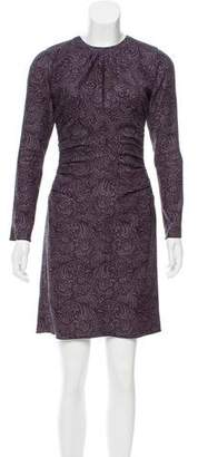 Marc Jacobs Paisley Printed Long Sleeve Dress