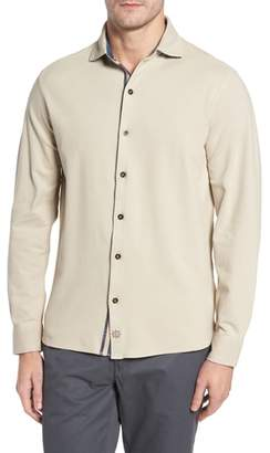 Thaddeus Shively Pique Knit Sport Shirt