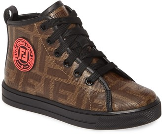 Fendi Double-F Logo High Top Sneaker
