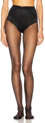 Wolford Crystal Affair Tights in Black & Jet Hematite | FWRD
