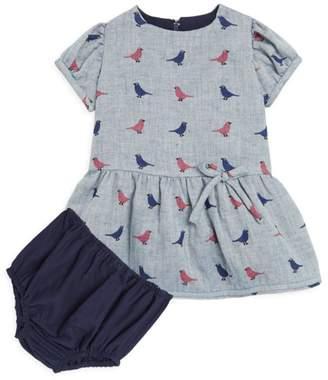 Isabel Garreton Bby Girl's Bird Dro Wist A-Line Dress & Blooers Set