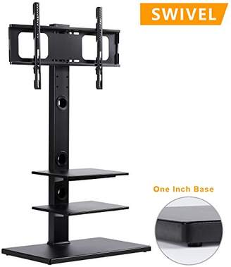 Rfiver Swivel Floor TV Stand with Mount and Three Shelves for 32 to 65 Inches Plasma/LCD/LED TVs