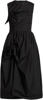 SIMONE ROCHA Knotted gathered cotton-poplin dress $619 thestylecure.com