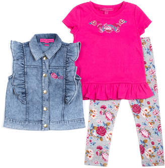 Betsey Johnson Girls' 3Pc Vest Set