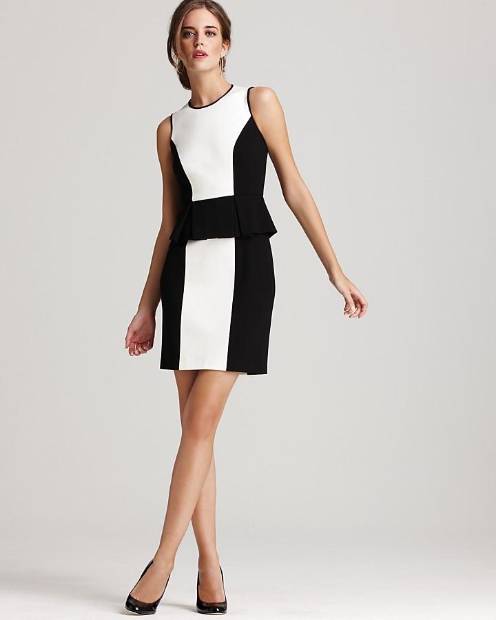 Cynthia Steffe Dress - Trissie Ponte Color Block