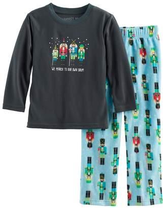 Toddler Boy Jammies For Your Families Nutcracker Top & Fleece Bottoms Pajama Set