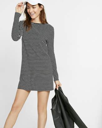 Express Striped Long Sleeve T-Shirt Dress