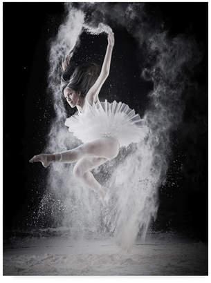 "Fly London Yudhistira Yogasara 'Fly Dancing' Canvas Art - 18"" x 2"" x 24"""