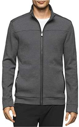 Calvin Klein Men's Full Zip Double Knit Sweater