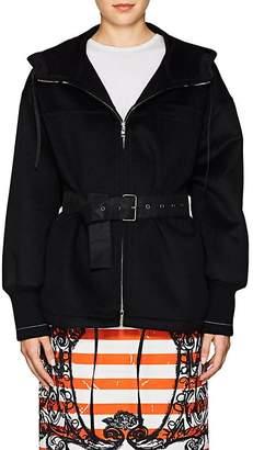 Prada Women's Belted Wool-Blend Hooded Coat