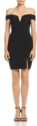 Aqua Off-the-Shoulder Sweetheart Mini Dress - 100% Exclusive