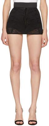Dolce & Gabbana Black Lace Miniskirt