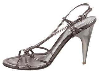 Miu Miu Metallic Slingback Sandals
