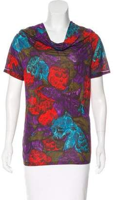 Lanvin Printed Short Sleeve Top