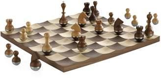 Umbra Wobble Walnut Chess Set