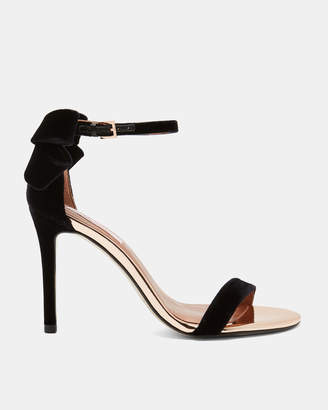 Ted Baker SANDALV Statement bow velvet sandals
