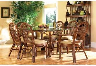 Boca Rattan Amarillo Arm Upholstered Dining Chair Boca Rattan