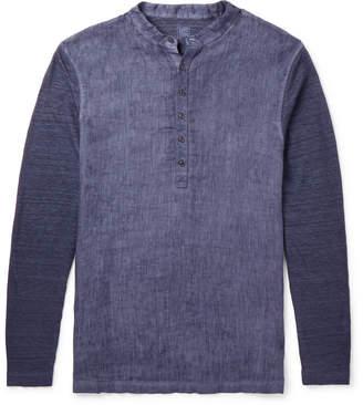 120% - Slub Linen Henley Shirt