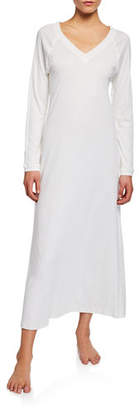 Hanro Pure Essence Long-Sleeve Long Nightgown