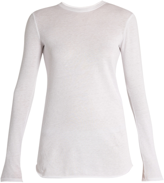 VINCE Cotton and cashmere-blend long sleeved T-shirt $175 thestylecure.com