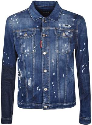 DSQUARED2 Fitted Denim Jacket