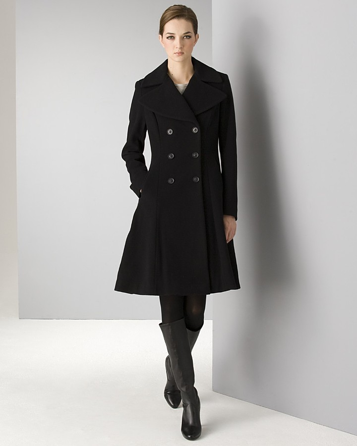 DKNY Women's Double Breasted Wool-Blend Coat