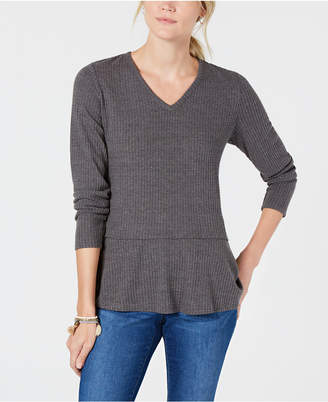 Style&Co. Style & Co V-Neck Thermal Top, Created for Macy's