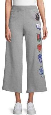 Opening Ceremony Sorority Wide-Leg Cotton Sweatpants