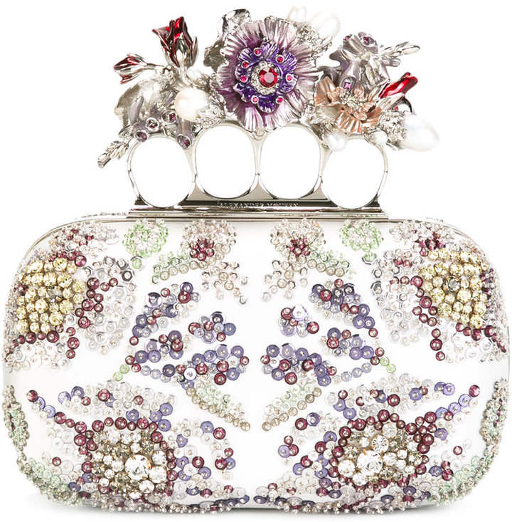 Alexander McQueenAlexander McQueen Knuckle embellished clutch