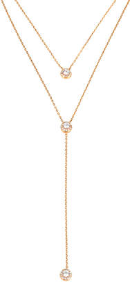Henri Bendel Pave Halo Double Y Necklace
