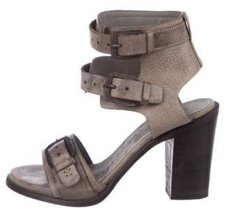 Henry Beguelin Leather Buckle Sandals