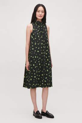 Cos FRILL-NECK A-LINE PRINTED DRESS