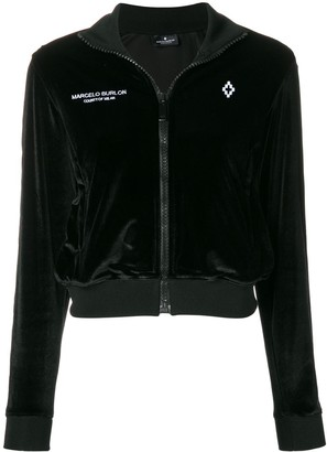 Marcelo Burlon County of Milan cropped zip hoodie
