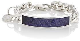 Ann Dexter-Jones Women's Sandstone ID Bracelet-Purple